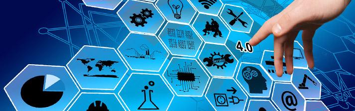 industry 4.0 icone evoluzione industria click